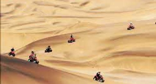 Quad sur les dunes